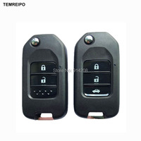 TEMREIPO Car Folding Key Auto Flip Key Shell For Honda Civic City Fit XRV Vezel Car