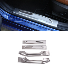 4pcs Steel Side Inner Door Sill Guard Scuff Plate Threshold Car Styling For Alfa Romeo Giulia 2017-2018