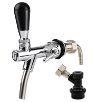 UPORS Homebrew Beer Tap Stainless Steel Draft Beer Faucet Adjustable Beer Tap Faucet with Flow Controller for Keg Accessories