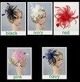 New Mesh Flower Hair Clip Children Dance Show Performance Party Girl Headwear Feather Mesh Fascinator Hair Accessories For Bride