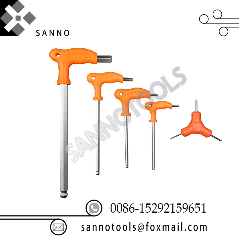 High strangth t-handle hex key with ball point 2.5mm 3mm 4mm 5mm 6mm 8mm 10mm 12mm Allen Key with T Handle high quality 1pcs 2mm 4mm 6mm 8mm wrapped handle t shape 6mm hex bit tip hexagon wrench hand tool bolt driver new screwdriver