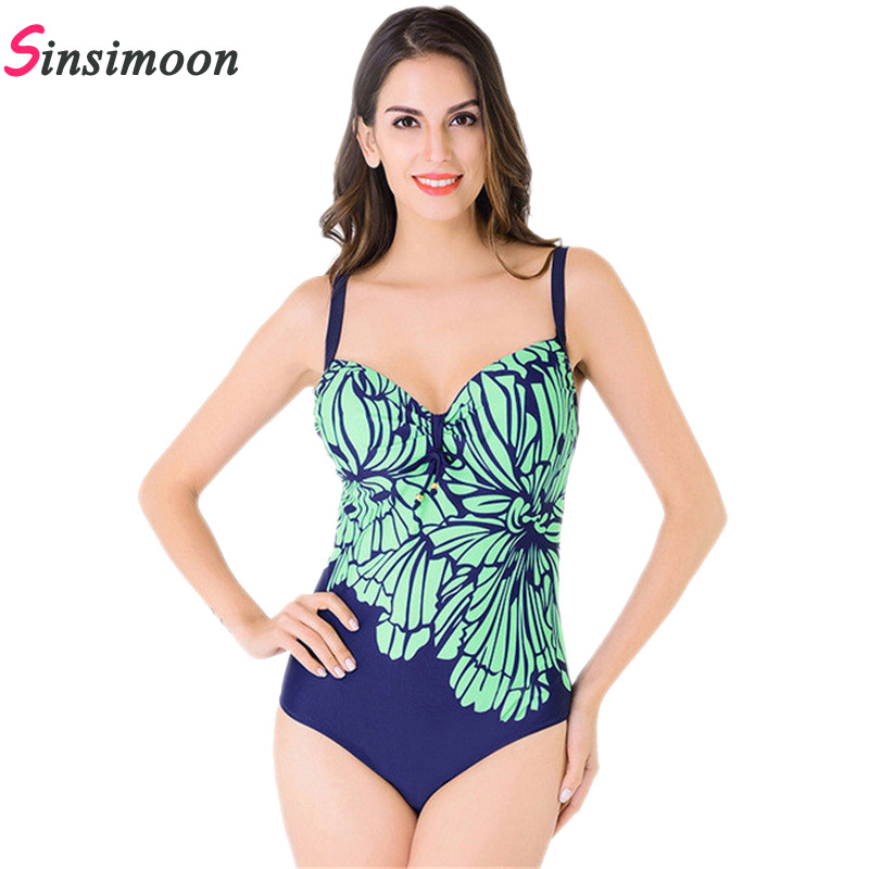 2018 new Sexy halter straps women swimwear one piece thong swimsuit printing woman bathing suits  hollow high waist swimsuit one piece swimsuits trikinis high cut thong swimsuit sexy strappy monokini swim suits high quality denim women s sports swimwear