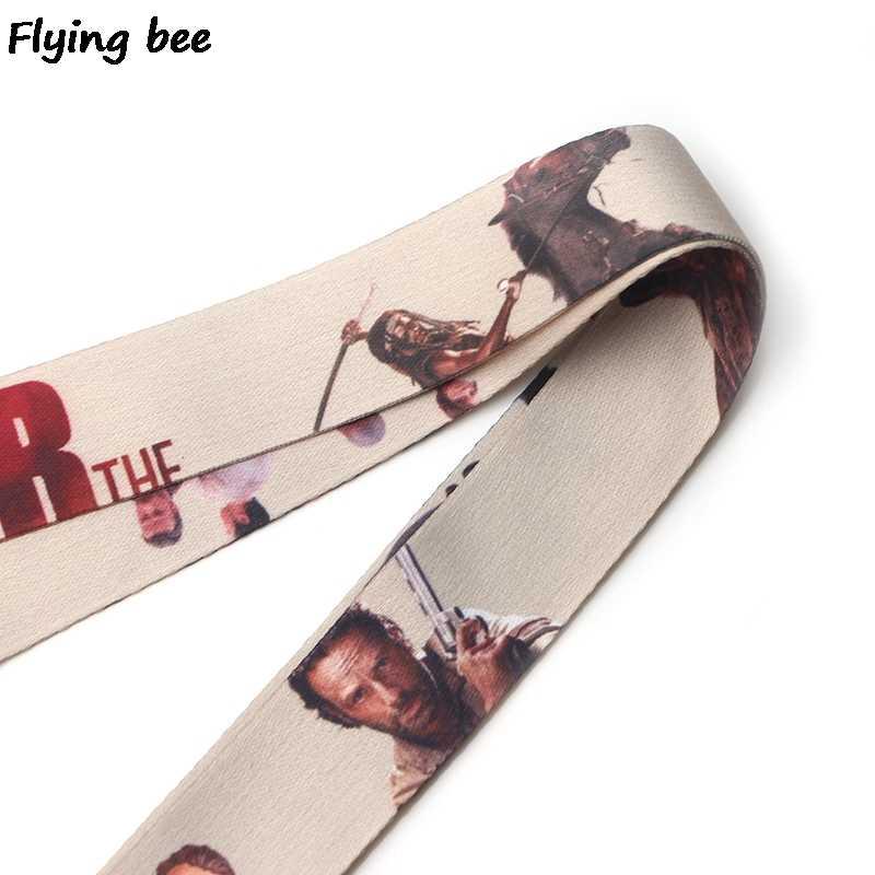 Flyingbee The Walking Dead brelok Cartoon śliczne smycz na telefon kobiety moda pasek smycze na szyję dla karty ID klucze do telefonu X0111