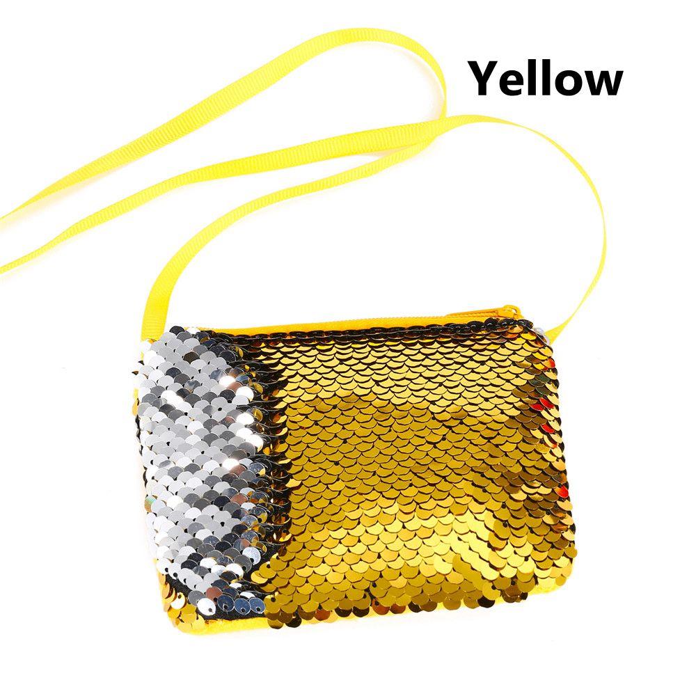 829900ed1187 US $0.99 50% OFF|Lovely Mermaid Sequins Coin Purse Neck Strap Handbag Kids  Girl Glittering Purse Small Walle Zipper Clutch Bag Earphone Package-in ...