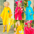 Children Raincoat 2016 New Cartoon Cape-style Cute Baby Children Kids Parent-child Bicycle Poncho Rain Coat Waterproof Rainwear