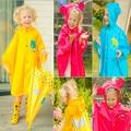 Children Raincoat 2016 New Cartoon Cape-style Cute Baby Children Kids Parent-child Bicycle Poncho Rain Coat Waterproof Rainwear