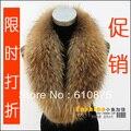 Горячие продажи Большой енот меховой воротник суб мужской женский лисий мех шарф глушитель шарф, воротник-шаль,
