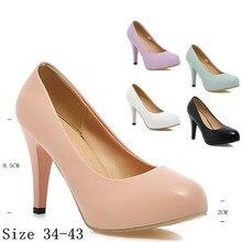 รองเท้าส้นสูงผู้หญิงรองเท้าส้นสูงผู้หญิงกริชปั๊มรองเท้าแต่งงานของบุคคลหญิงแมวส้นs carpinขนาดบวก34-40.41.42.43