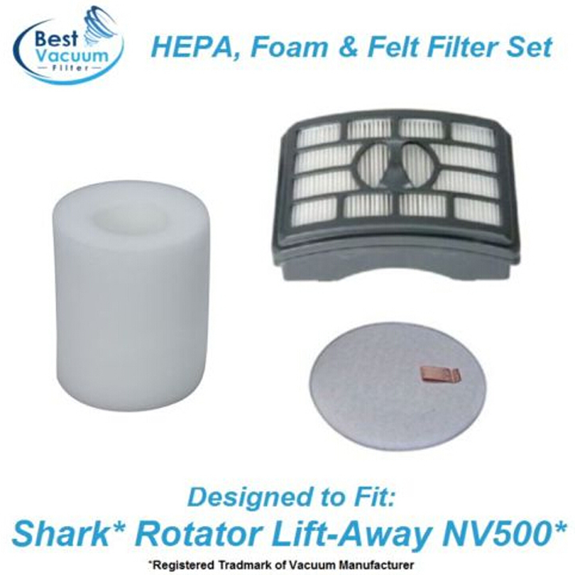 цены HEPA Post & Pre Filter fit for Shark Rotator Lift-Away NV500 series XFF500, XHF500