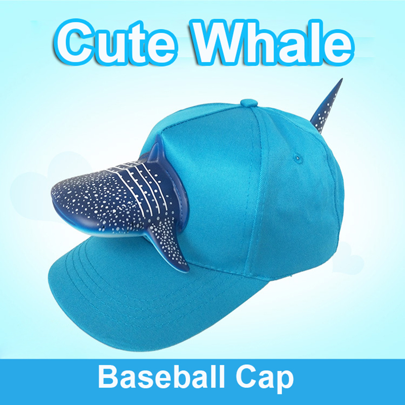 Spring 3D Shark Zoo Creative Travel Hat Adjustable Blue Cartoon Cap Europe And America Fashion Baseball Caps Men Christmas Gift image