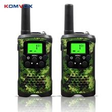 Portátil mini kids walkie talkies alcance até 6km 8/20/22ch frs/GMRS400 470MHZ camo rádios em dois sentidos interfone crianças presentes