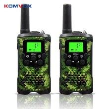 Przenośny Mini dzieci walkie talkie zasięg do 6km 8/20/22CH FRS/GMRS400 470MHZ Camo dwa radiotelefony domofon prezenty dla dzieci