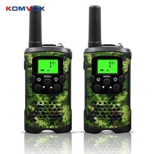 Image 1 - Przenośny Mini dzieci walkie talkie zasięg do 6km 8/20/22CH FRS/GMRS400 470MHZ Camo dwa radiotelefony domofon prezenty dla dzieci