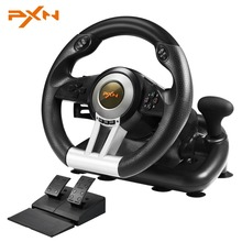 PXN V3II 4 In 1 USB Steering Wheel For PS4 /3 For Xbox One Wired Vibration Motor Racing Games Steering Wheel For PC