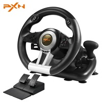 PXN V3II 4 In 1 Steering Wheel For PS4 3 For Xbox One USB Wired Vibration