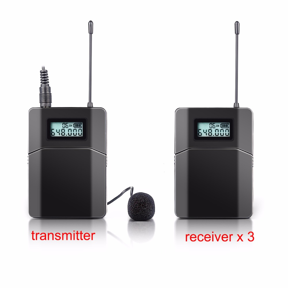 Free shipping 100m Wireless Tour Guide System Used For Tour Guiding Church Teaching 3 Receivers 1 Transmitter With Mic tp wireless portable pull rod 2 4ghz tour guide system charging case for 1transmitter 29receivers tour guide items