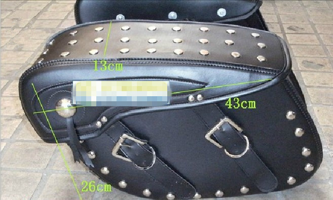 MAGNA 250 Motorcycle saddlebag sidebag side box hally motorcycle side bag Ha metal inside Rivet motorcycle