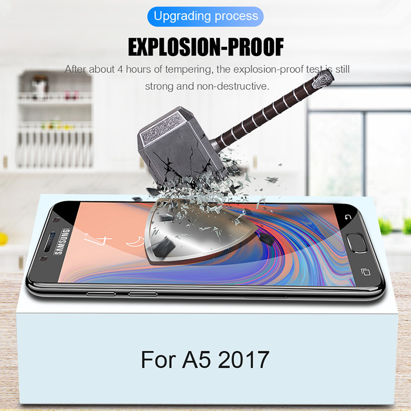 Image 4 - 25D Curved Protective Glass on the For Samsung Galaxy A3 A5 A7 J3 J5 2017 J4 J6 A8 A6 Plus 2018 Tempered Screen Protector Glass-in Phone Screen Protectors from Cellphones & Telecommunications