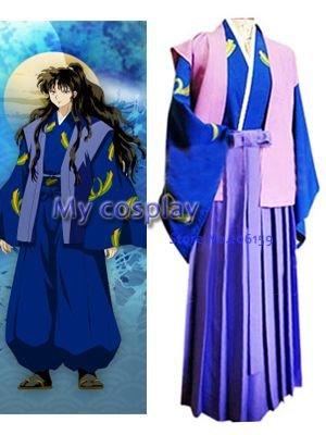 Anime InuYasha Naraku Men's cosplay kimono clothing Japanese anime costume Halloween Party Costume Free shipping
