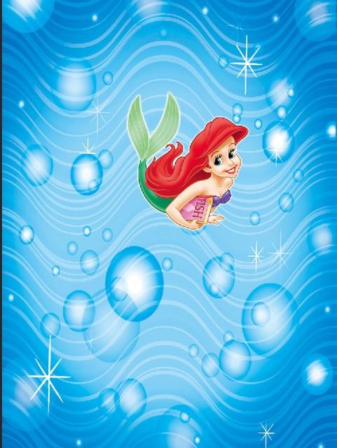 8x8ft Blue Sea Wave Bubbles Ariel Princess Little Mermaid