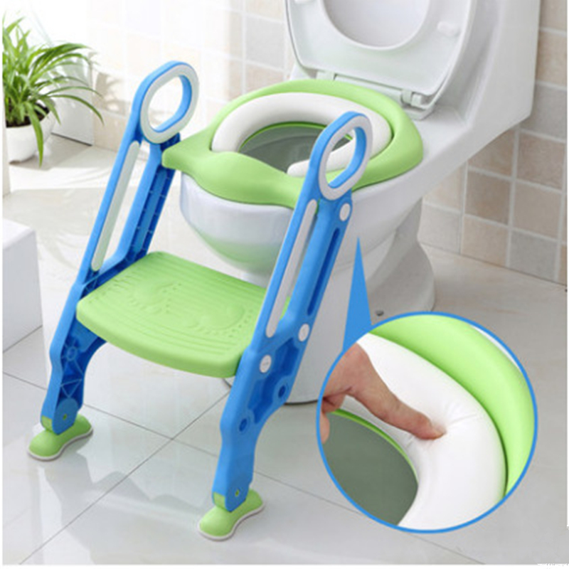 Explosion Baby Potty Training Seat Children's Potty Baby Toilet Seat With Adjustable Ladder Infant Toilet Training Folding Seat