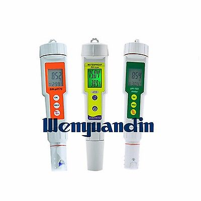 Digital Portable PH Test Pen Measure Pen Waterproof Pool Fish Tank Test Instrument Water Quality Tester PH100 household radiation test pen electromagnetic radiation tester sound and light alarm test pen detection measuring tools