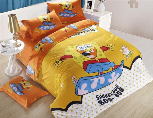 Good quality 100 cotton/purple kids bedding/home textile/spongebob ... : spongebob quilt cover - Adamdwight.com