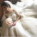 2016 Luxury Vestidos De Novias Bling Bling Boat Neck Short Sleeve Beaded Bling Bling Chapel Train Princess Wedding Dresses