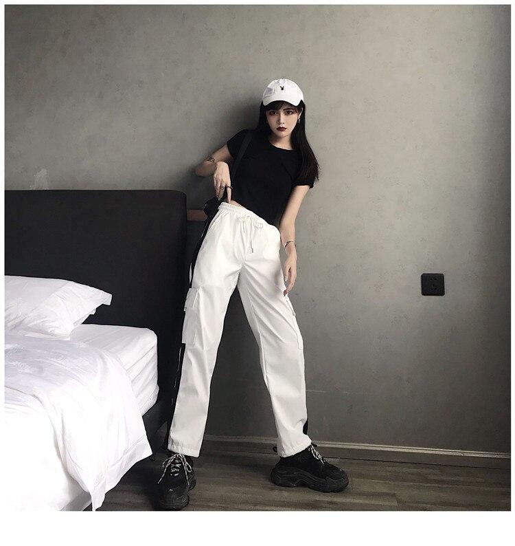 de cintura alta para mulheres, streetwear, tática,