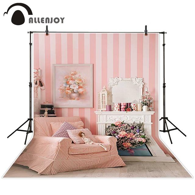 Allenjoy Fotografischen Hintergrund Valentinstag Malerei Zimmer Sofa  Kulissen Prinzessin Junge Vinyl Anpassen 5x7ft