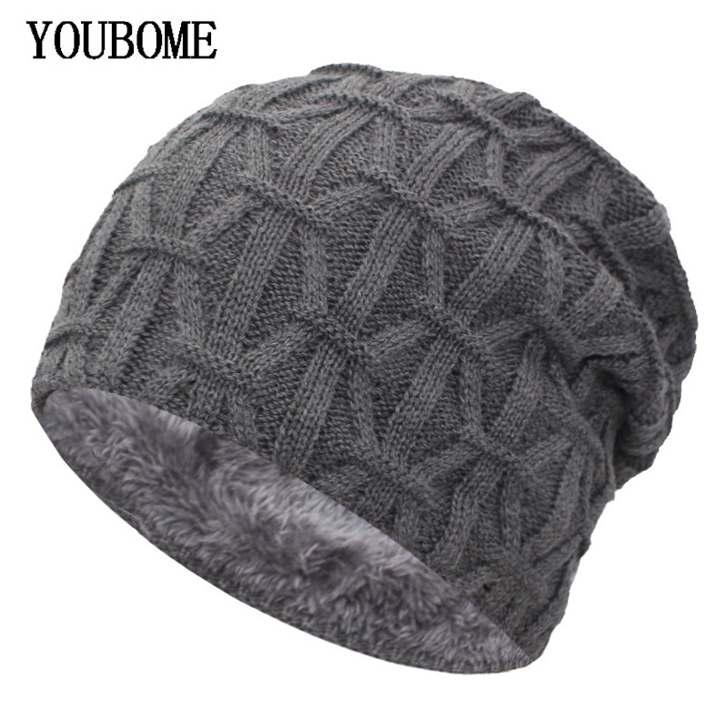 YOUBOME   Skullies     Beanies   Men Knitted Hat Women Winter Hats For Men Mask Male Warm Thick Fur Bonnet Gorras Winter   Beanie   Hat Caps