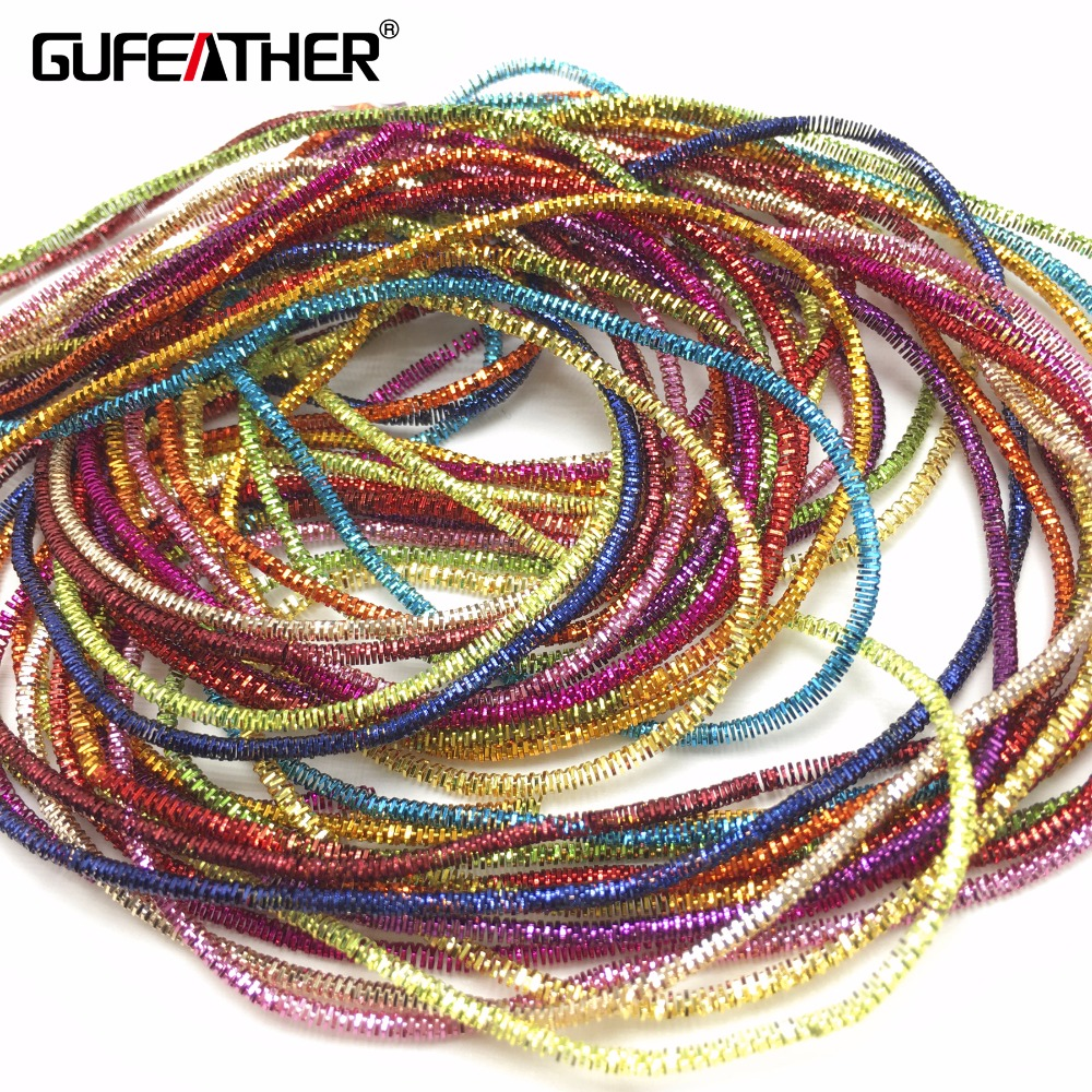 GUFEATHER M28/1.5MM Embroidery Badge Mat/jewelry Accessories/diy Accessories/jewelry Making/wire/goldwork/hand Made/about 12g