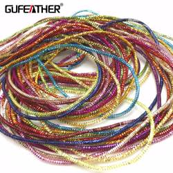 GUFEATHER M28/1,5 мм Вышитая эмблема коврик/jewelry аксессуары/diy аксессуары/ювелирные изделия делая/провод/золотное шитье/ручная работа/около 12 г