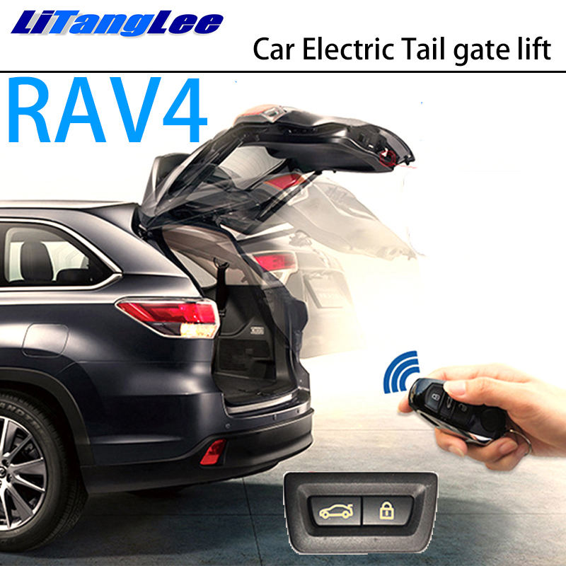 LiTangLee Car Electric Tail Gate Lift Trunk Rear Door Assist System For Toyota RAV4 XA40 2012~2018 Original Key Remote Control