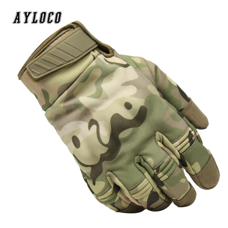 New Camouflage Tactical Touch Gloves Army Waterproof Paintball Shooting Military Gloves Airsoft Anti-Skid Full Finger Gloves