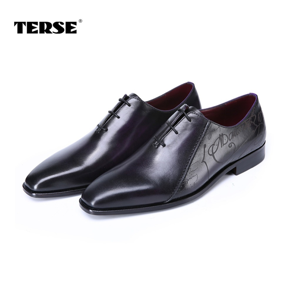 TERSE_Luxury handmade mens dress shoes Italian calfskin genuine leather oxfords blue color in stock goodyear welted formal shoes luxury bespoke goodyear welted shoes elegant mens dress shoes italian unique boss wingtips shoes italian grooms wedding shoes