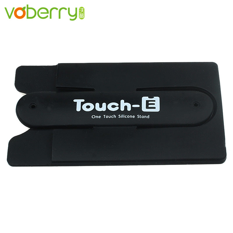 VOBERRY High Quality Silicone Stick Credit Card Holder Slot Stand Shell Case For Smart Phone It is easy and convenient to use