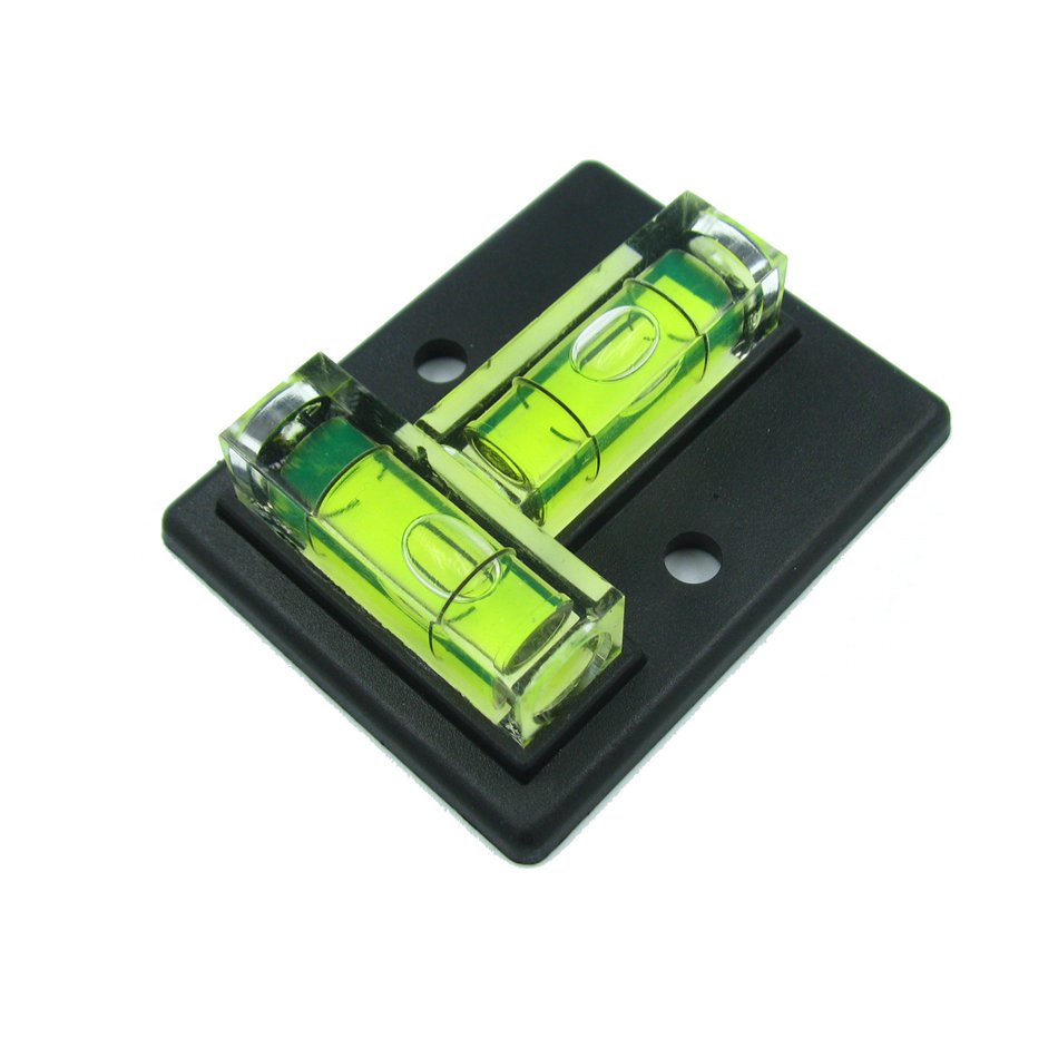 QASE Two Directions Square Level T Type Bubble Spirit Level Water Level Indicator Size 50*40mm Balck Color
