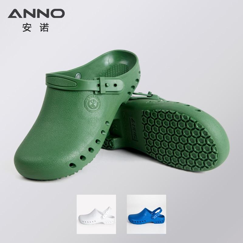 ANNO TPE Krankenhaus Clogs mit Band Chirurgische Fußbekleidung für Frauen Männer Medizinische Hausschuhe Klinische Abnutzung Beständige Krankenschwester Fußabnutzung