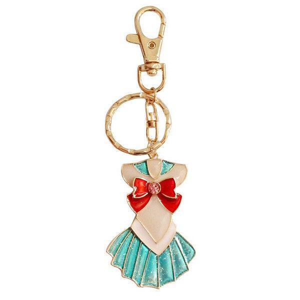 Anime Sailor Moon Uniform Cosplay Keychain Women Girls Tsukino Usagi Metal Alloy Key Chains Key Ring Charms Pendant Collection