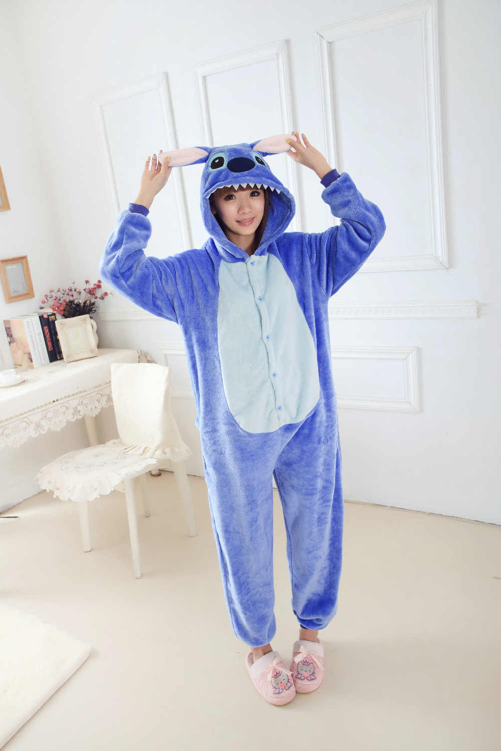 Detail Feedback Questions about Blue Pink Stitch Onesies Adult Kigurumi Onesie  Pajamas Cosplay Costume Children Sleepsuit Sleepwear Jumpsuit Party  Clothing ... 6abcc9314