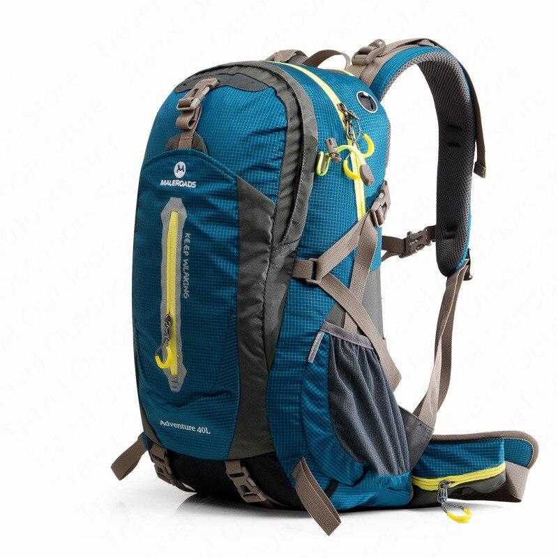 Maleroads ao ar livre 40l 50l escalada mochilas saco à prova dwaterproof água ao ar livre caminhadas saco com capa de chuva respirável unisex sacos de esportes