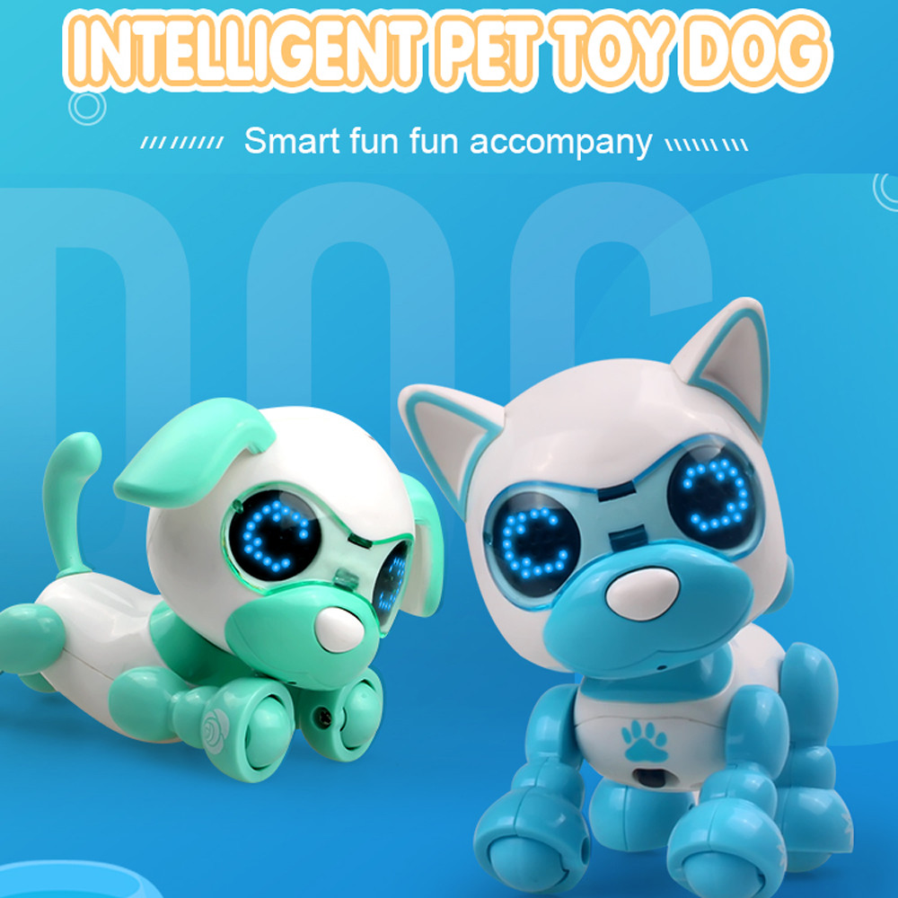 UInteractive Smart Puppy Robotic Dog LED Eyes Sound Recording Sing Sleep Cute Toy  Child Christmas Gift Fun Eject(China)