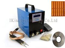 220 V LCD display 18650 batterie punktschweißmaschine pedalsteuerung stifttyp Handheld schweißgerät + 1 kg nikel + batterie fall