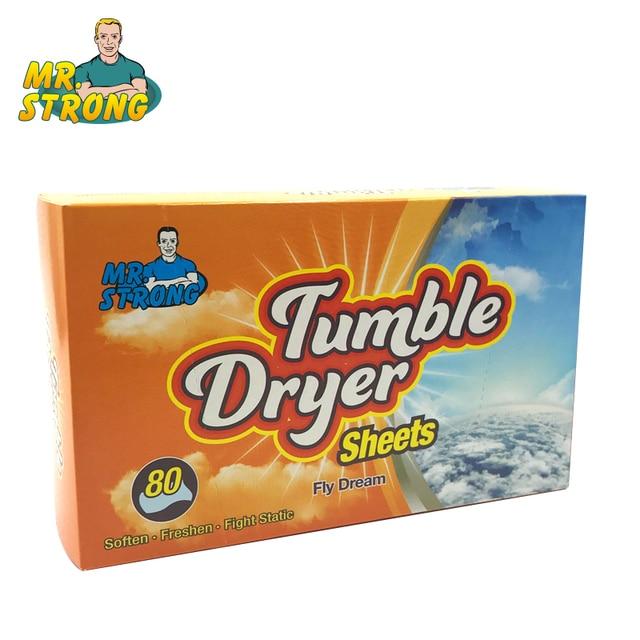 80 pz/scatola Asciugatrice Vestiti di Controllo Arancione Profumo Elettricità St