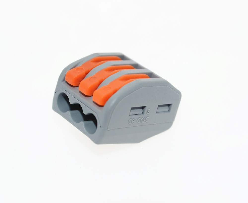 Wago 222-413 connector 10PCS PCT-213 3P Universal Compact Wire Connector Conductor Terminal Block