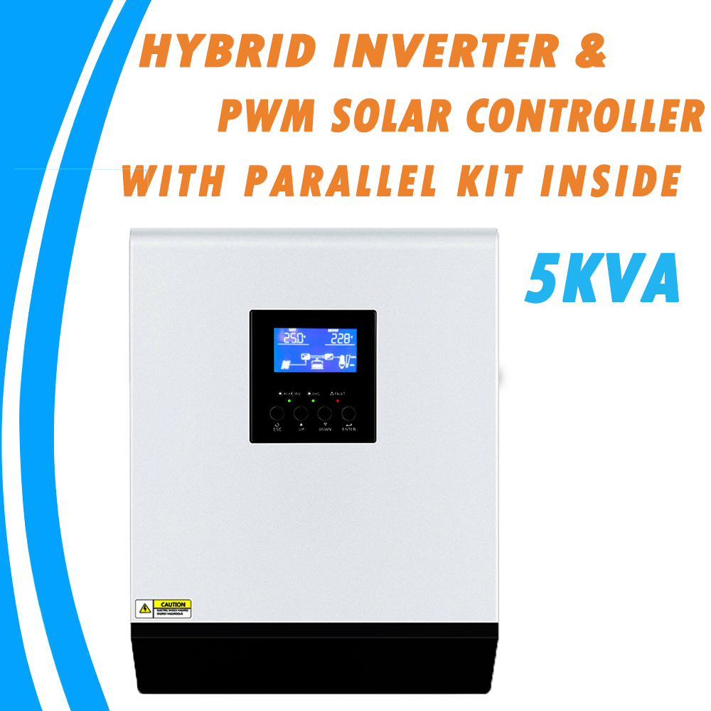 5KVA Invertitore Puro Dell'onda di seno Solar Hybrid Inverter 48V 220V Built-In 50A PWM Regolatore di Carica e Caricatore di CA con parallelo Kit All'interno