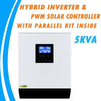 5KVA Pure Sine Wave Hybrid Solar Inverter 48V 220V Built-in 50A PWM Charge Controller and AC Charger with Parallel Kit Inside