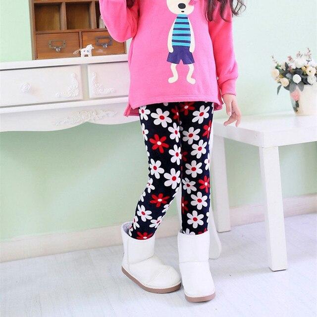 Новый От 2 до 9 лет утепленная Leggings Детские теплые зимние Leggings штаны для девочек Высокое качество Бесплатная доставка