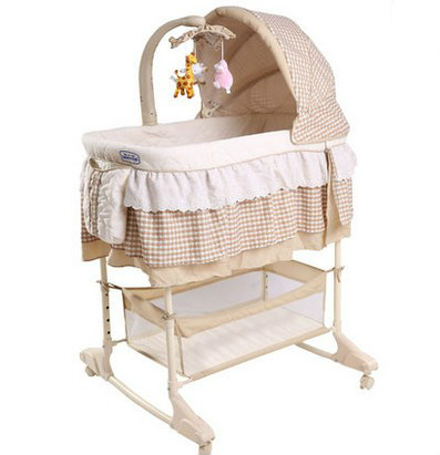 Multi function bed with mosquito net roller baby bed baby small BB shake bed sleeping basket three colors good quality manual animal carton image baby bed baby cradle including mosquito net and sleeping basket